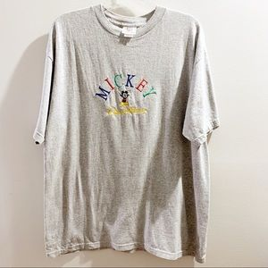 Vintage Disney Mickey Mouse Embroidered T-Shirt XL